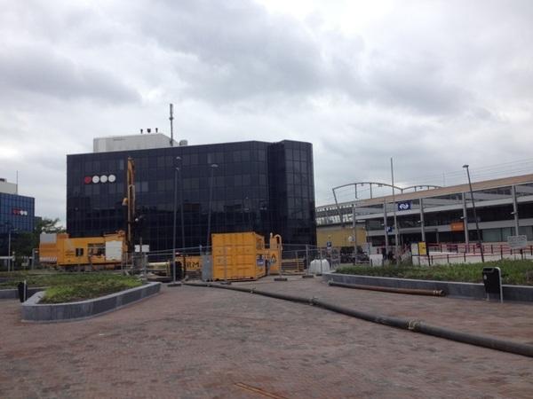 Stationsplein net bouwput af
