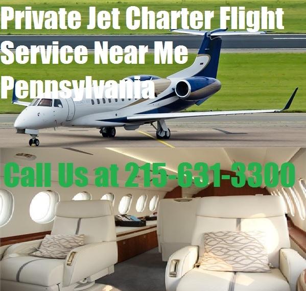 Private Plane Jet Charter Flight Service Philadelphia, Allentown, Pittsburg Pennsylvania
