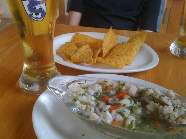 Ceviche - perfect starter for lunch