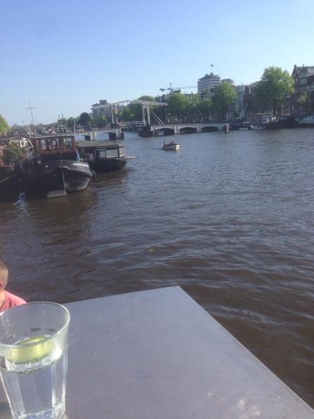 Voordeeltje van werken op een boot -
