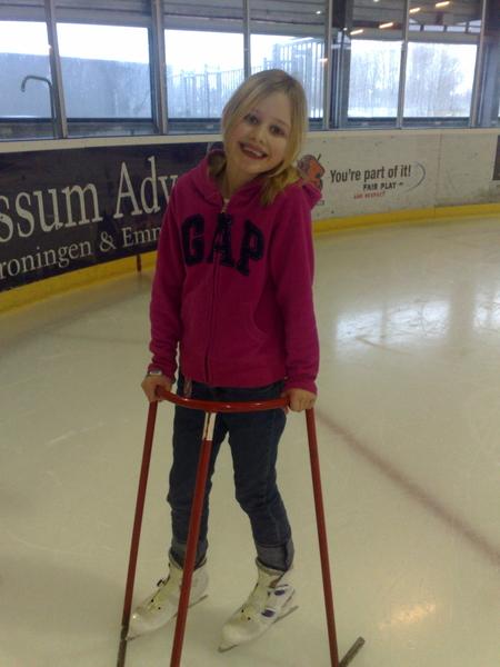 Quinty op de schaats