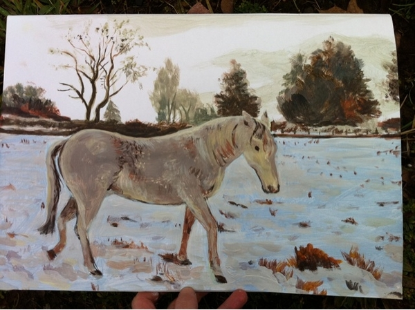 """""""In the Snow"""" Watercolour and Gouache Demo"""
