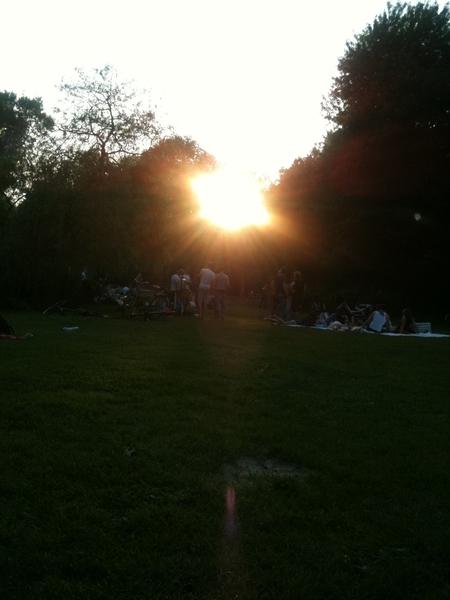 Vondelpark sunset...