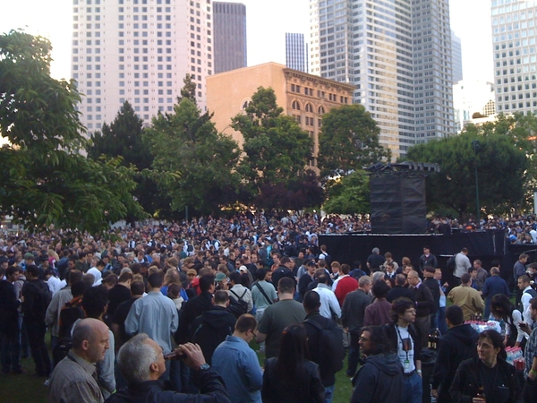 Apple #WWDC takes over Yeuba Buena Park:   GPS location: http://bit.ly/OxbIW