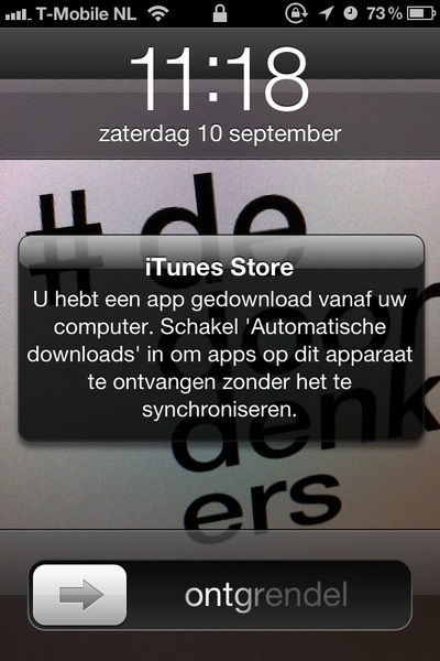Dat klink handig in iOS 5