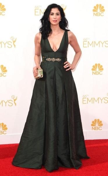 Sarah Silverman in Marni.  #ERedCarpet #Emmys2014 #Emmys