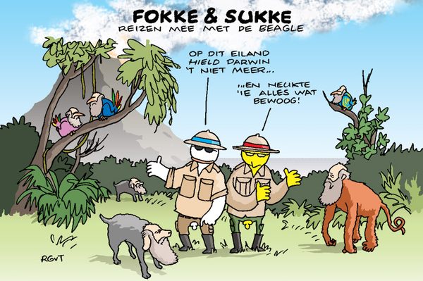 Fokke & Sukke voor de VARA Gids over week of drie (over #BEAGLE)