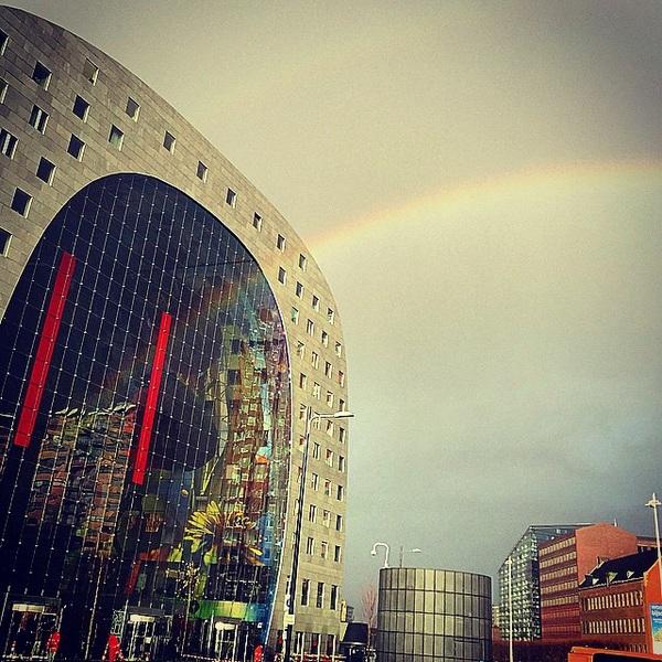 #markthal  #rainbowinthesky  #Rotterdam