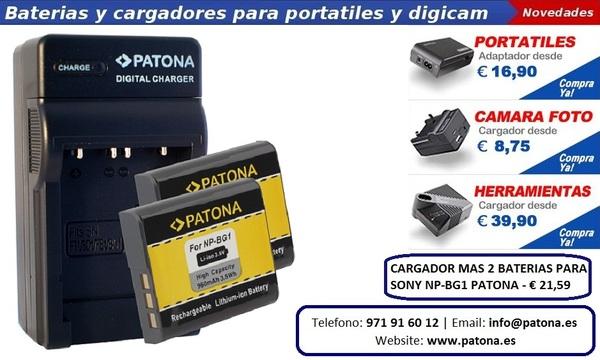 Mejor Sony NP-BG1 Cargador Mas 2 Batería en España