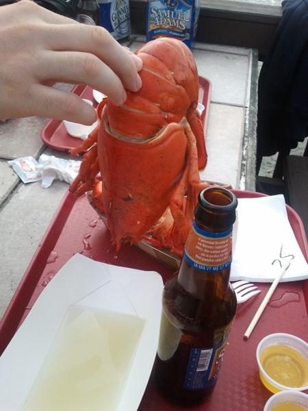 My Huge Lobster with @jackdubin & @jennnydubin Yumm