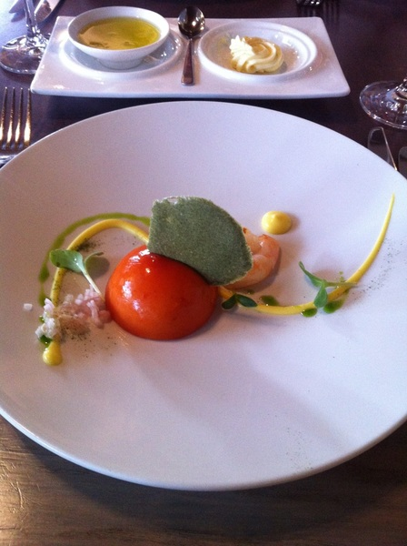 Verrassings voor #prinscharming. 1e gang bloemkool mouse met tomaat