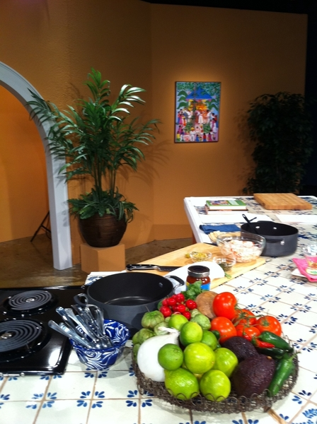 All set up to tape on-air fund-raiser for San Antonio's KLRN PBS station!  I love these people!