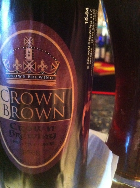 Crown Brown from  @CrownBrewing at Lucrezia's in #crownpoint #nwi #nwindiana