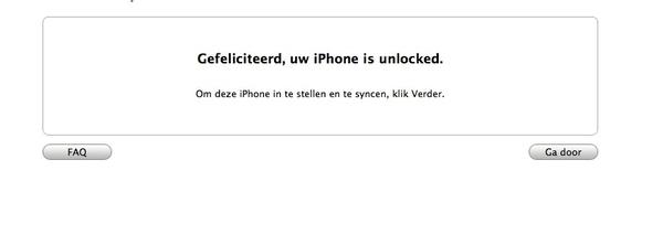 huh... dit is een vreemde melding voor een sim lock vrije belgische #iPhone