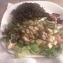 Black beans and avocado walnut salad