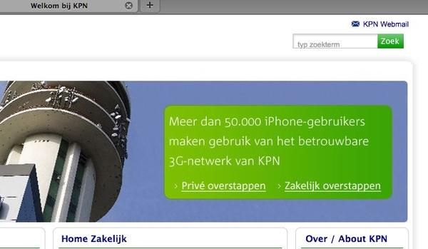 geinige pay off op homepage KPN