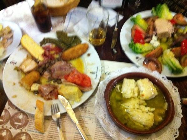 Wat is dat eten goddelijk hier, Bodega Castaneda, Granada