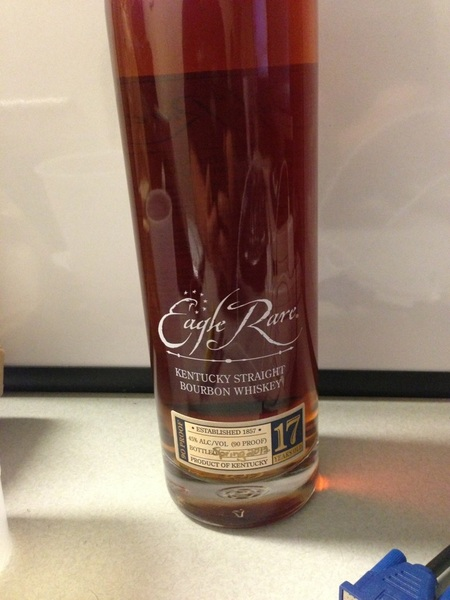 Just snagged a new bottle of Eagle Rare 17. Hello old friend. #fb