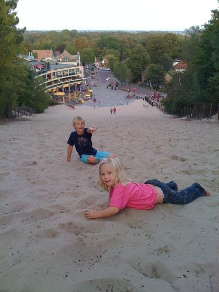 Running down Schoorl dune hill