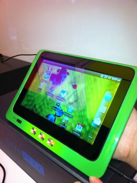New Open Peak Tablet, Android, Intel Moorestown #Atom #CES 2011