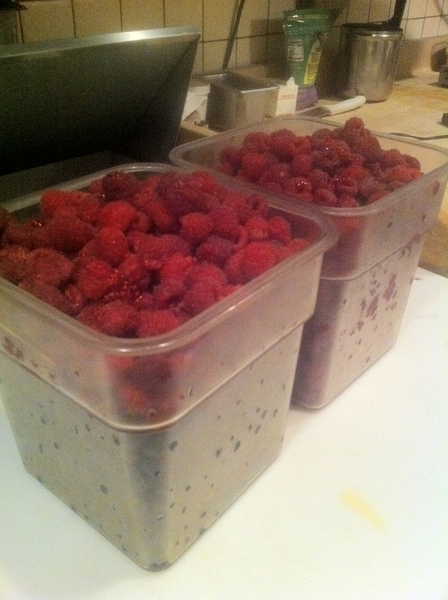 We've started Klug Farm raspberry and blueberry season in a big way at Frontera/Topolo/Xoco. Truly amazing flavor