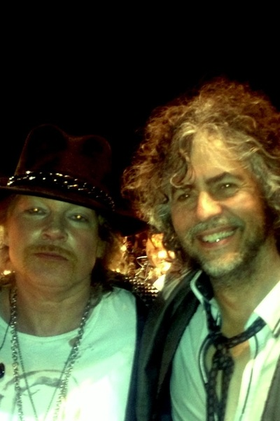 Ha ha!!! Axl Rose and me..right after singing Revolution No.9 with Neil!!
