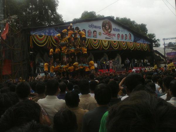 @MumbaiMag Govinda! Dahi Handi in #Thane #Mumbai! #BonVoyage2012 #travel