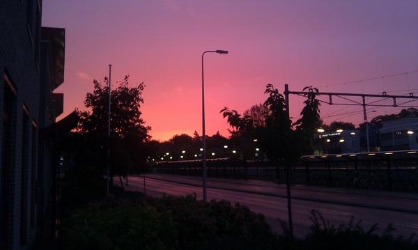 Een regenachtige #sunrise @giel3fm