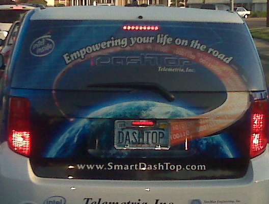 Spotted in Silicon Valley:  Telemetria on-the-road connectivity car w/ @IntelInside http://bit.ly/9pUczq
