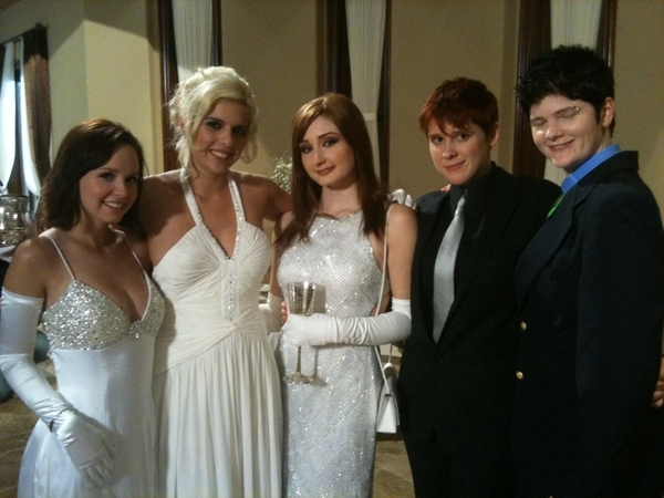 """@kodigamble @violetmonroe @lily_cade @artdyke who's going to hook up in """"girls in white""""?? Watch to find out!!"""