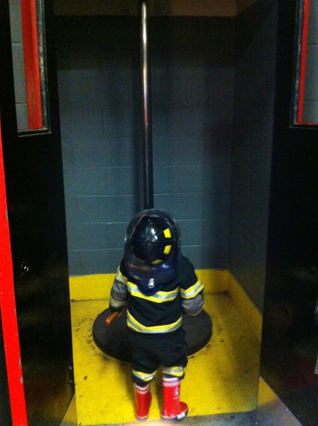 Checking out the firepole
