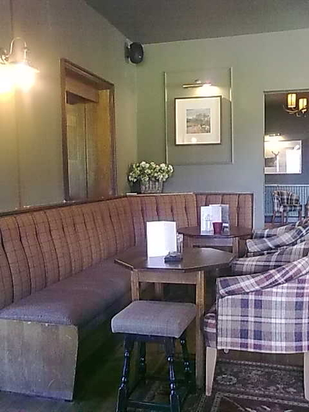 Out for lunch in newly refurbished Glencoe Hotel, very tastefully done. Hillside colours in tweeds and things...#Lochaber