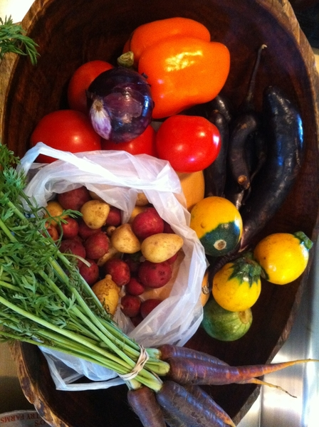 At Frmrs Mrk bought beautiful veg for grilled ratatouille for Mon night dinner