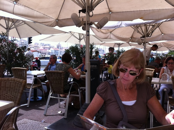Time for lunch, at the old port in Marseille