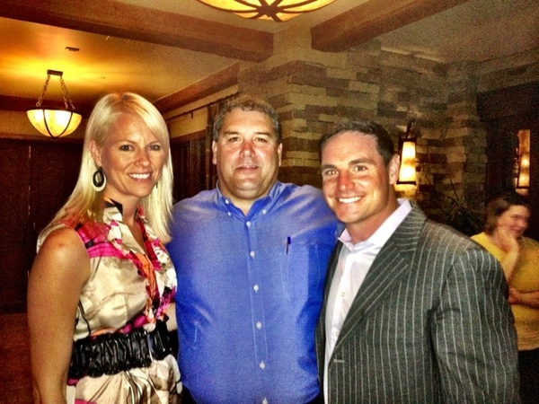 Coach Hoke  @rebeccafeely and  myself