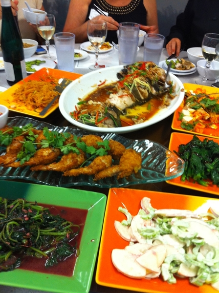 The bounty at our Jia Cafe meal was staggering