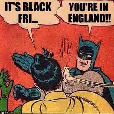 Think I'm going to buy some old tat today just because retailers call it 'Black Friday'? A cartoon in reply.