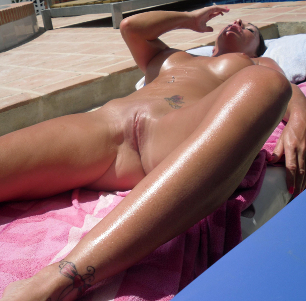 Nice message Slut naked on tanning bed are certainly