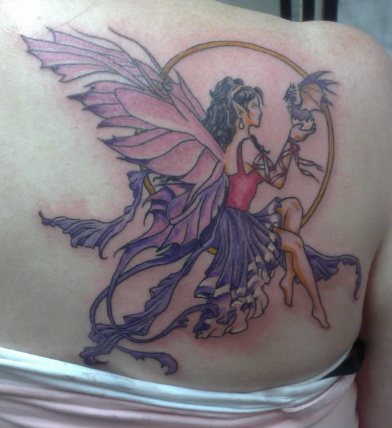 fairy with dragon #tattoo by famouslefty