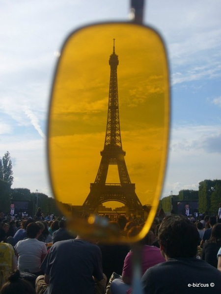 The Eiffel Tower with My Orange Glasses