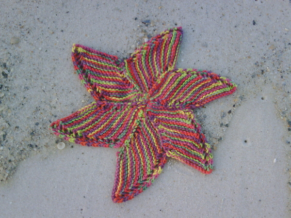 my starfish dishcloth