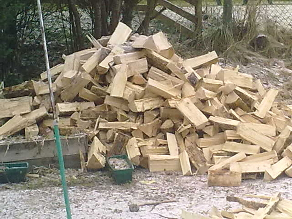 Wood supplier finally came good. Monster pile still to shift, that was 1/4 bigger! Sore back=teabreak