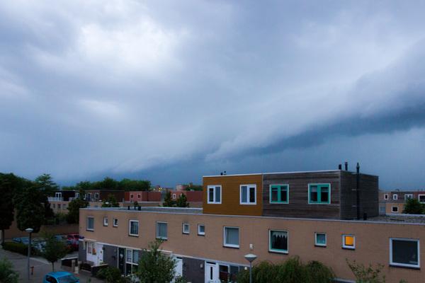 Supercell boven Amsterdam  #buienradar