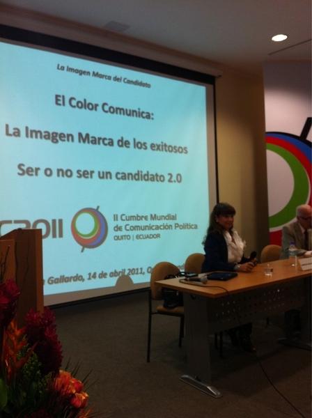 """Ya en la charla de """"ser o no ser candidato 2.0"""" de @PatyGallardo #cumbre2011. Acá la mesa"""