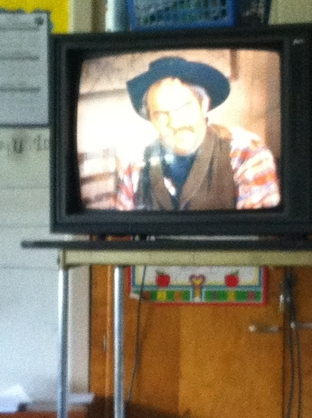 So the DBAKs wanna act a fool while watching a good movie so I said okay we'll watch Bonanza! & they mad!  #meanTeacher