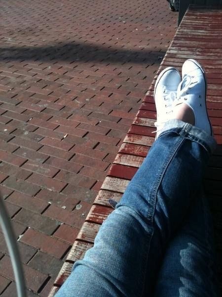 Wachten op de bus!!!