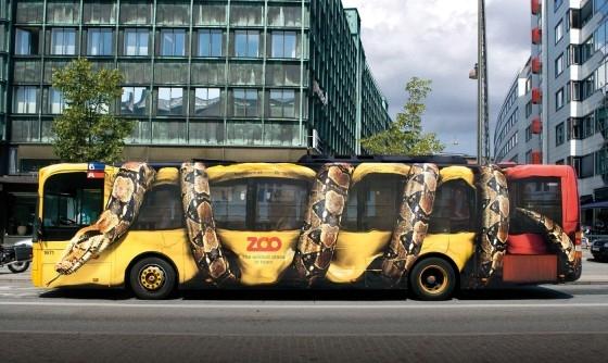zoo snake busvertising