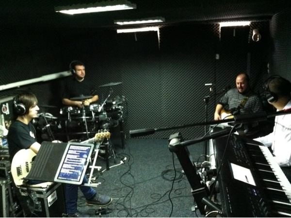 Prima repetitie in propriul nostru studio
