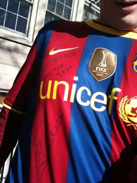 @andresiniesta8 Gracias! Me Encanta! Wore it on WC Final! Now: a family heirloom. & Congrats 2 u & yr wife!