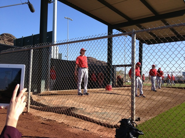 Jered Weaver's first bullpen.